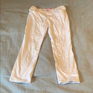 Girls Lilly Pulitzer White Jeans, Size 7.
